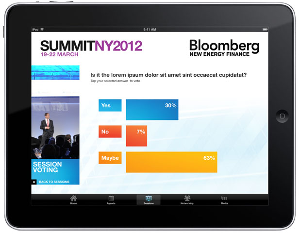 Bloomberg NEFS - iPad Poll