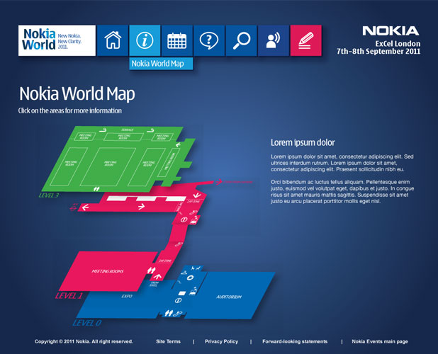 Nokia World Concept - Map