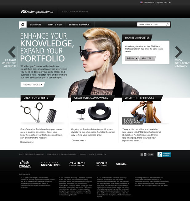 P&G Salon Professional - eEducation - Home