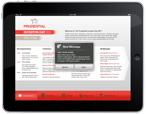 Prudential - iPad App Home