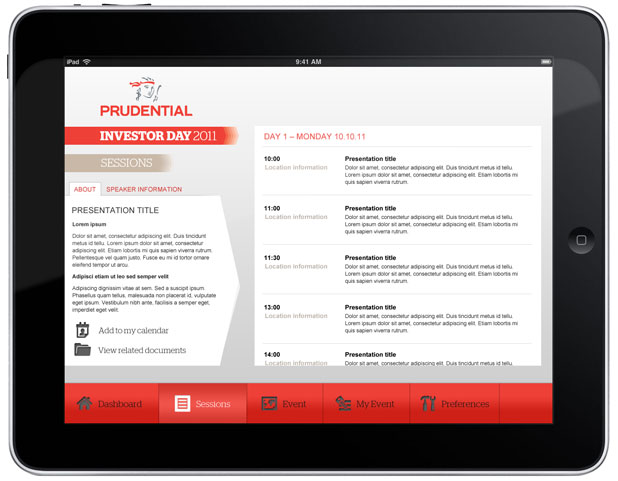 Prudential - iPad App Sessions