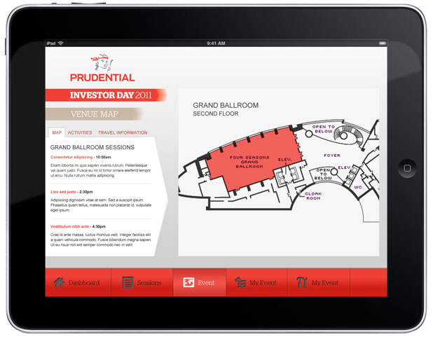 Prudential - iPad App Map