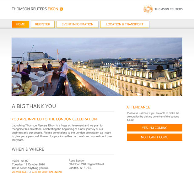 Thomson Reuters - Thank You Gallery