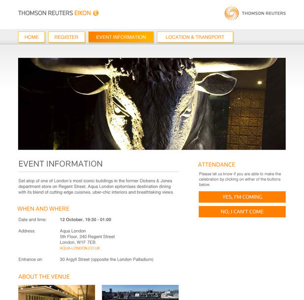 Thomson Reuters  - Thank You Gallery - Venue