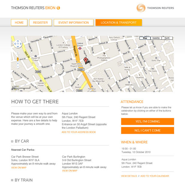 Thomson Reuters - Thank You Gallery - Map